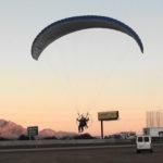 Landing approach after a wonderful flight
